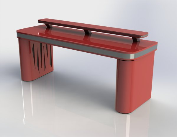 Vector Desk ST Red