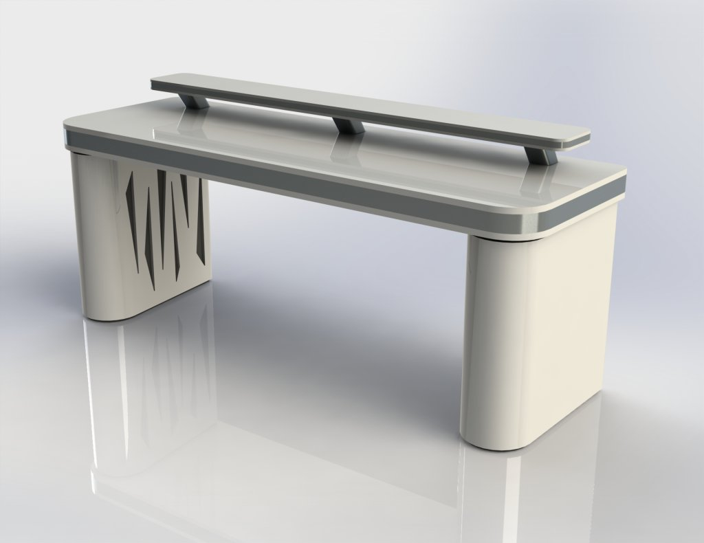 - Vector Desk ST White - Colour: White High Grade Production Desk